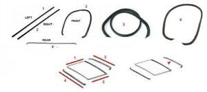 Sunroof-MOONROOF-Seal-Gasket-Set-FIT-FOR-Mercedes-Benz-W123-SEDAN-SALOON-4-PCS