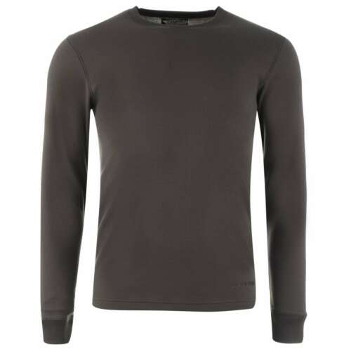 Campri Mens Thermal Baselayer Top Compression Armor Skins Long Sleeve Crew Neck