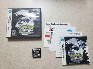 AUTHENTIC Pokemon Black Version (DS, 2011) Complete in box CIB!