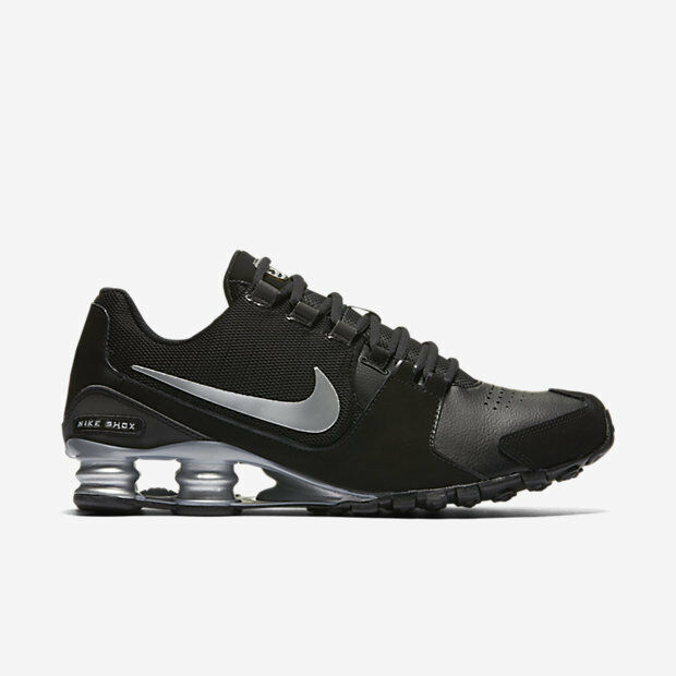 Mens Nike Shox Avenue Premium Sneakers New, Black / Silver 833584-001