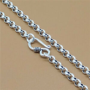 Sterling Silver Mens Unisex 1.5mm Box Chain Large Round Chime Pendant Necklace