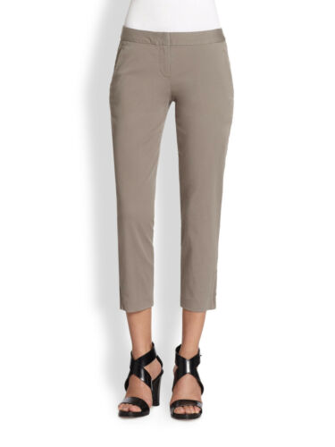 NWT THEORY Scyler P Mauritius Twill Cotton Pants in Stormy Gray $215
