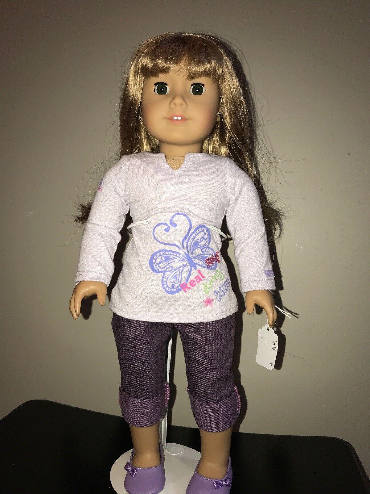 Doll American Girl Featherot Eyebrows Blonde Hair Wears Earrings