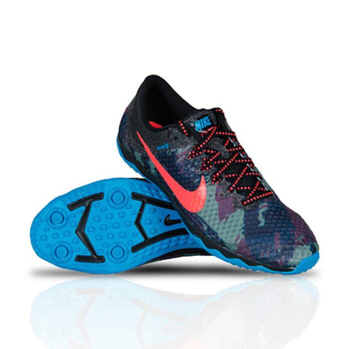 Nike 749350-084 Zoom Rival Waffle XC Running Shoe BLACK/BLUE HOT LAVA Sz 15 NEW