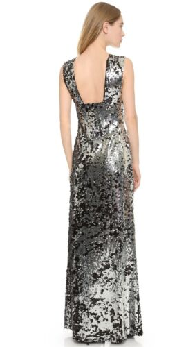 Rachel Zoe Womens Venus Sequined Maxi Gown Dress Sz 0 895