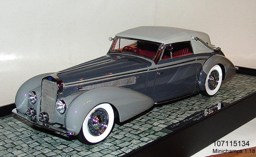 MINICHAMPS 107115134 -Delage D8-120 Cabriolet Baujahr 1939 grau   d.-grau 1 18  | Verrückter Preis, Birmingham