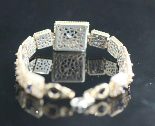 Turkish Handmade Jewelry 925 Sterling Silver Sapphire Ladies Bracelet