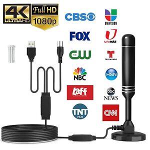 Upgraded TV Antenna HDTV Amplified Digital TV Antenna 4K 1080P Long Range Indoor