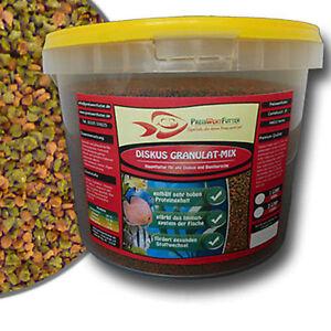 Diskus-Granulat-Mix-3-Liter-Eimer-1-35-kg-Futter-Barsch-Aquarium-Diskusgranulat