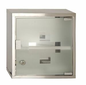 Image Is Loading Metal Wall Mounted Lockable Medicine Cabinet  Cupboard First