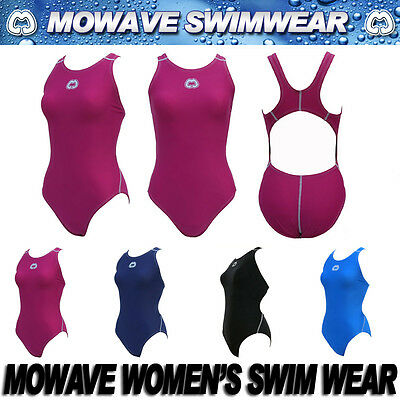 Mowave women's trainning racing one piece swim wear suit competition free gift