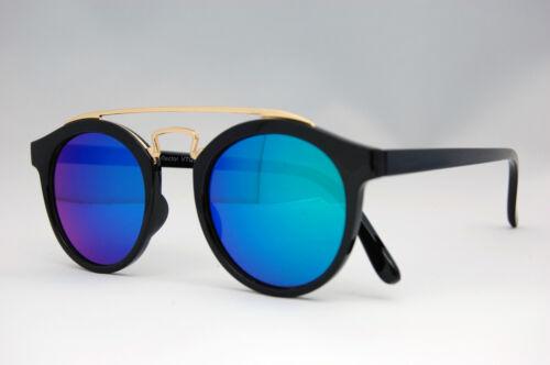 80s Retro fashion sunglasses vintage Mirrored Lens Gaga round good quality