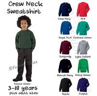 Boys Unisex School Jumper Sweatshirt Uniform Age 3 4 5 6 7 8 9 10 11 12