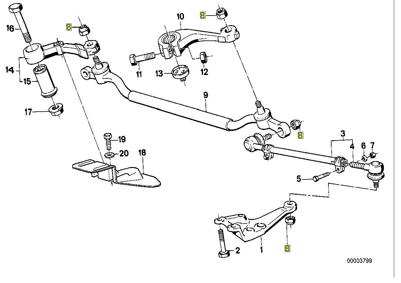 BMW 10 mm Hex Nyloc écrou Autobloquant M6x1.00 mm 9964605 07129964605