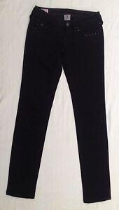 New-Women-039-s-True-Religion-Julie-Skinny-Black-Jeans-Size-25