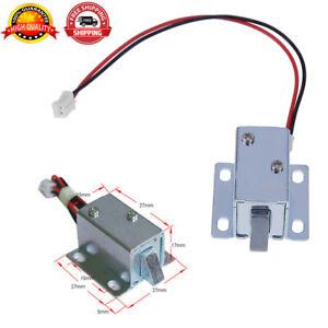 6V/12V Mini Solenoid Electromagnetic Electric Control Door Cabinet Drawer Lock