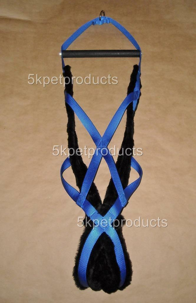 DOG WEIGHT PULLING HARNESS PADDED 10 GrößeS Blau MADE IN USA