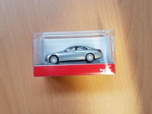Herpa 038287-004 - 1/87 Mercedes-Benz S-Klasse, silbermetallic - Neu