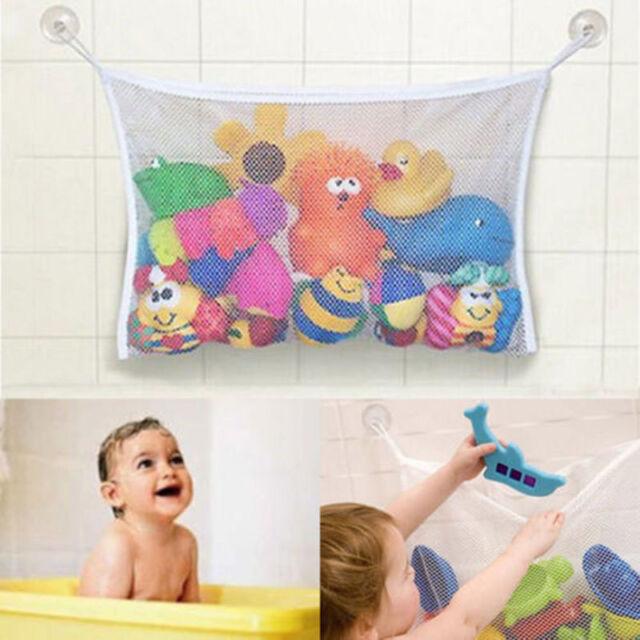 Kids Bath Toys Organizer Bag Net Tub Mesh Tidy Storage Wall Suction Cup Bathroom