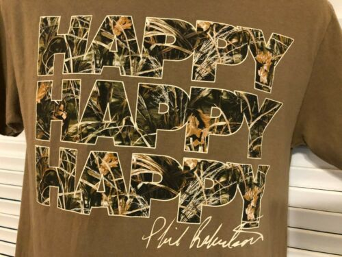 "Duck Commander Camo ""Happy-Happy-Happy"" Brown Cott"
