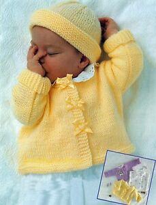 0c02136d6 Image is loading Easy-Knitting-Pattern-DK-Baby-Cardigan-Sweater-Bolero-