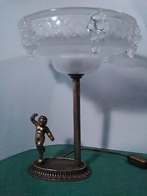 Aus Dem Ausland Importiert Engel Putten Tischlampe Shabby Chic Unikat Messing Putto Lampe Trauben Neueste Technik