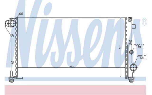 NISSENS Radiador, refrigeración del motor FIAT PANDA 617847