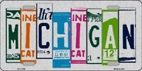 Michigan License Plate Art Brushed Aluminum Metal Novelty License Plate