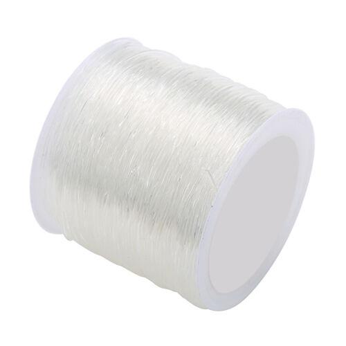 1 Roll Klar Elastische Schnur Faden Schnürsenkel für Halskette Armband Perlen