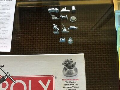 Monopoly Pewter Classic 11 Movers Money Bag Tokens Pawn Replacement Parts Pieces