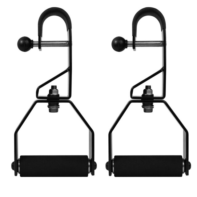 Non Slip /& Foam Grips Support up to 300 lbs Pair Yes4All Rotating Pull Up Handles