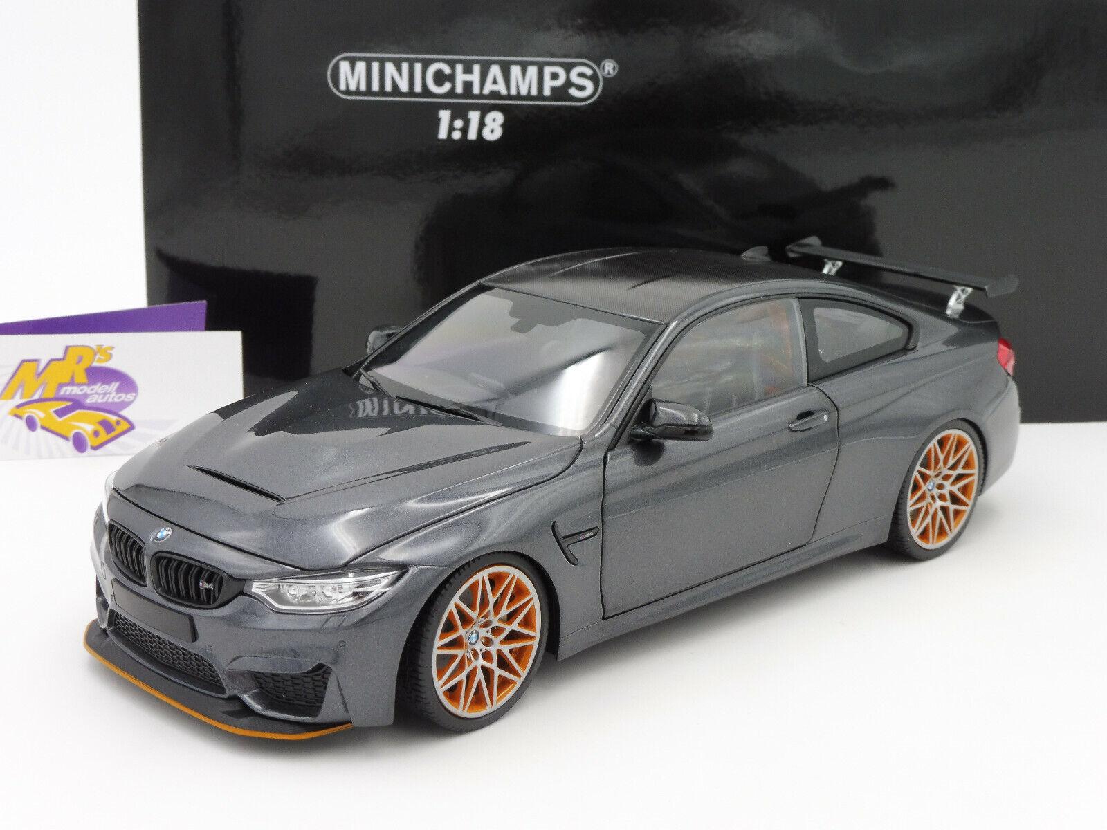 MINICHAMPS 110025222    BMW m4 GTS Année Modèle 2016  grismet.  Orange Jantes 1 18  vente en ligne