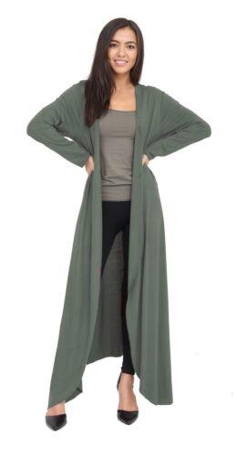 Nouveau Femme Longue Ample Ouvert Avant Style Boyfriend Cardigan Tops à manches longues Manteaux