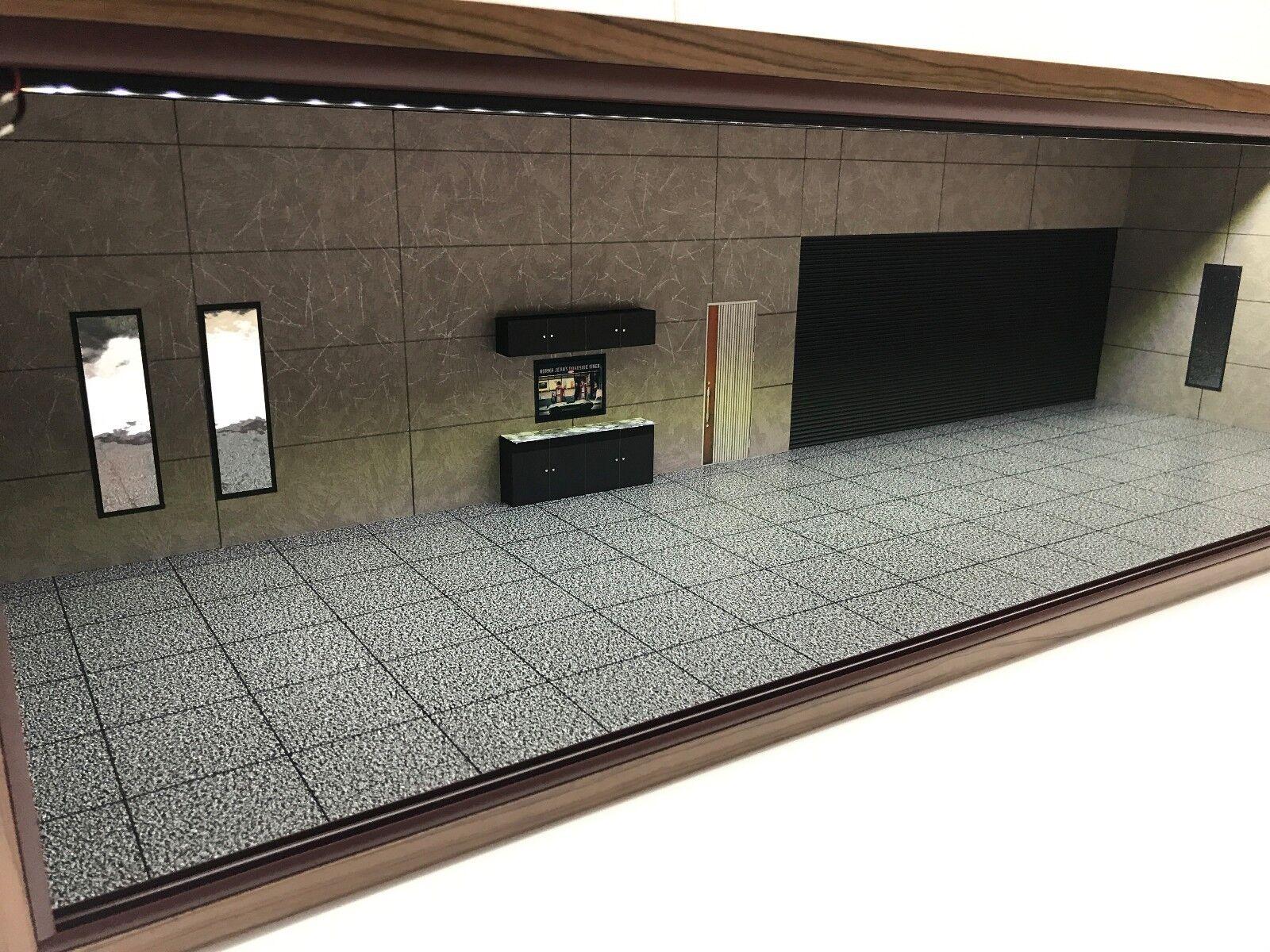 1 18 1 18 SCALE DIORAMA GARAGE DISPLAY DISPLAY DISPLAY ACRYLIC CASE W  LED LIGHT MADE IN JAPAN ③ 34c884