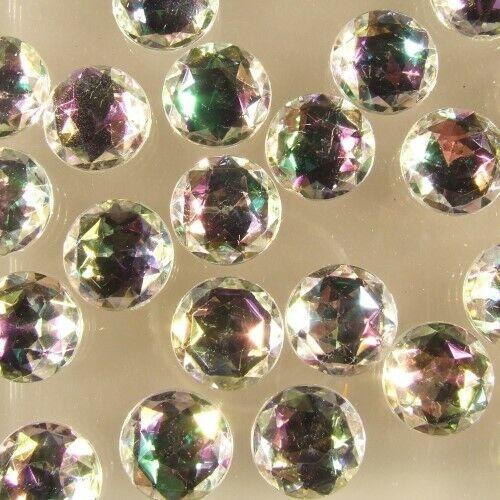 200 x piedras fosforescentes semipreciosas alrededor del reverso plano acrílico Ø 14 mm