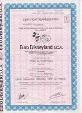 Euro Disney aandeel S.C.A.  eurodisney