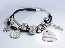 White Gold Charm Name CHRISTINA Bracelet Birthday Christmas Easter Gifts For Her