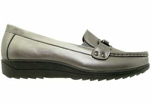 NEW-SCHOLL-ORTHAHEEL-YALE-WOMENS-COMFORT-SUPPORTIVE-LEATHER-MOCCASIN-SHOES