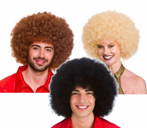 Adult 1970s GIANT AFRO WIG Disco Fever Retro Hair 70s Unisex Mens Jackson 5 Stag