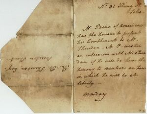 Thomas-Paine-written-note-signed-034-Mr-Paine-of-America-034-dated-between-1787-1789