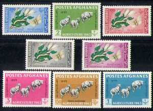 Afghanistan-1963-Sheep-Moth-Insects-Animals-8v-n26237