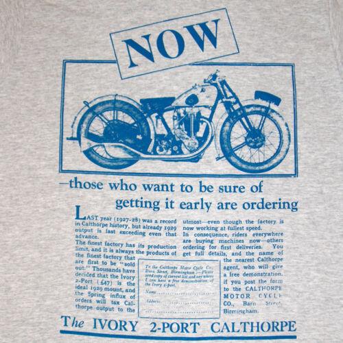 CALTHORPE T SHIRT MOTORCYCLE ADVERT RETRO BIKER CULT