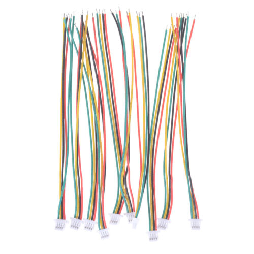 10Pcs Mini Micro JST 1.0 SH 1.0mm 4-Pin Connector Plug With Wires Cable 100MMGxn