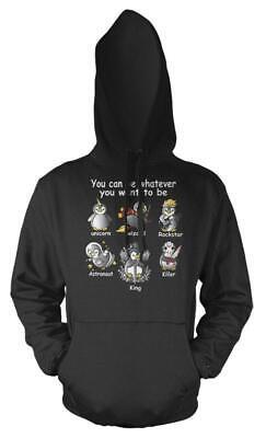 Gentile Penguin Che Si Possono Essere Qualsiasi Cosa Tu Voglia Essere Potter Ha Preso Unicorno Bambini Felpa Con Cappuccio-mostra Il Titolo Originale