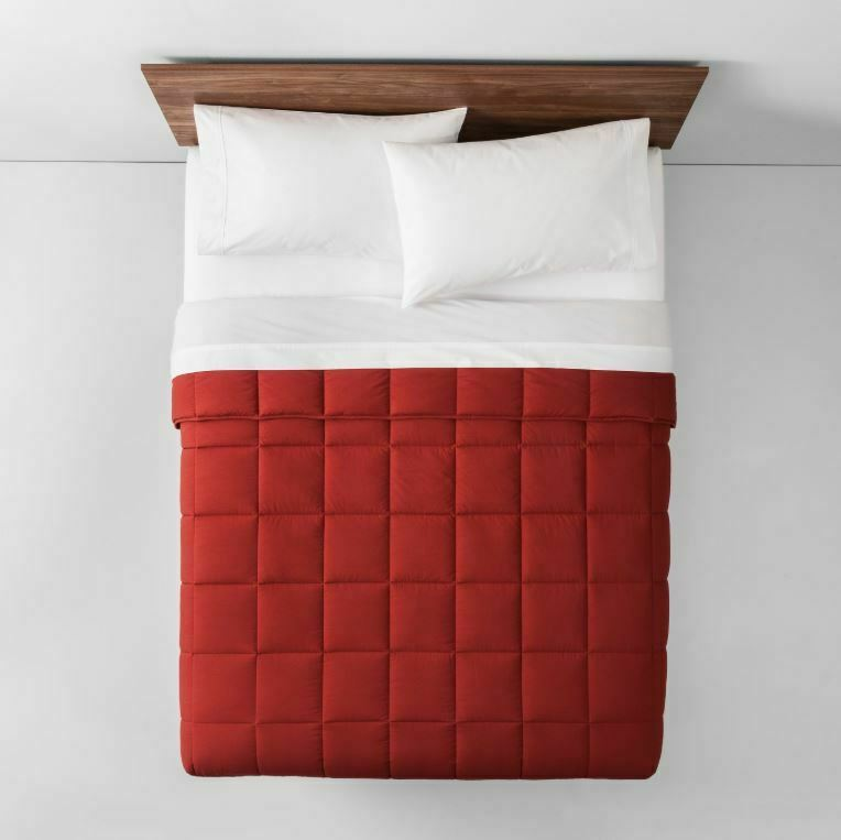 Made By Design Solid Down Alternative Comforter Twin Red