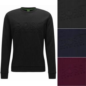 Hugo Boss Green Men's Salbo Slim Fit Crew Neck Sweatshirt