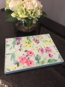 Laura-Ashley-WATERCOLOUR-FLORAL-4x-Placemats-Table-Mats-Set-FREE-SHIPPING
