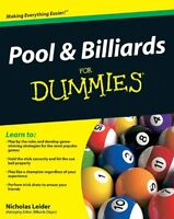 Pool And Billiards For Dummies By Nicholas Leider, (paperback), For Dummies , Ne on Sale