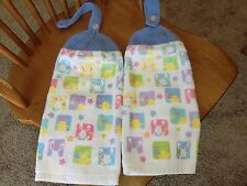 Easter - Chicks, Bunnies Easter Eggs  Knit Top Kitchen Towels