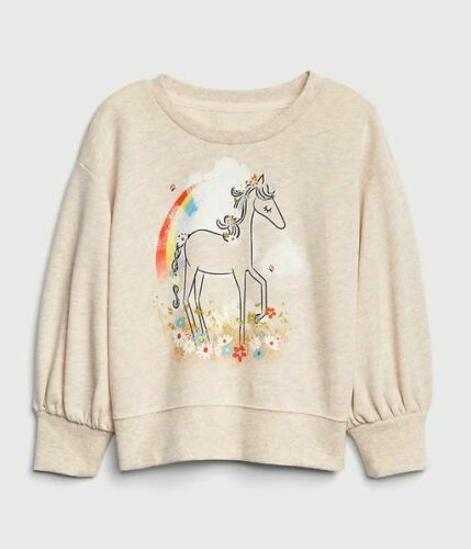 GAP BABY GIRL Graphic Balloon-Sleeve Sweatshirt NWT 2T 3T N8 NNN
